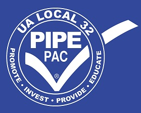 Logo: UA Local 32 Pipe PAC